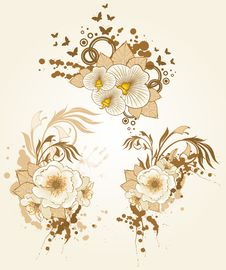 Free Flowers And Blots Royalty Free Stock Images - 18452319