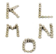 Free Coins Font; K,L,M,N,O Stock Image - 18453851