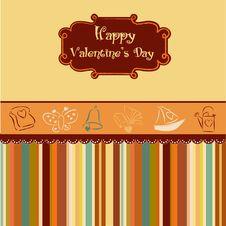 Free Vintage Valentine S Day Card Royalty Free Stock Image - 18454336