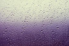 Water Drops On Window Stock Photos