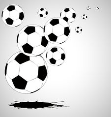 Free The  Abstract Soccer Background Royalty Free Stock Photos - 18454828