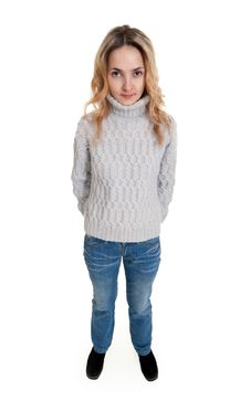 Free Girl In A Sweater Stock Photography - 18455072