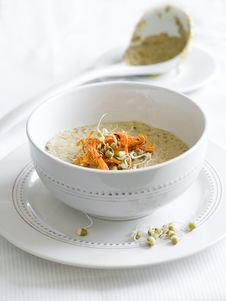 Free Vegetarian Cream Soup Stock Photography - 18455092