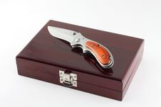 Knife On The Box. Stock Photography