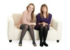 Free Two Girls On The Couch Royalty Free Stock Photos - 18455448