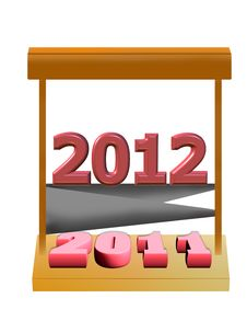 Free New Year 2012 Stock Photo - 18455510