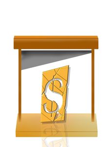 Free Guillotine Cutting Dollars Royalty Free Stock Photo - 18455515