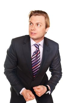 Free Frightened Young Businessman Royalty Free Stock Photography - 18456007
