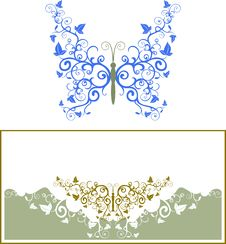 Free Abstract Floral Butterfly Royalty Free Stock Photos - 18456148