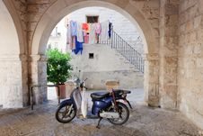 Retro Moped Stock Images