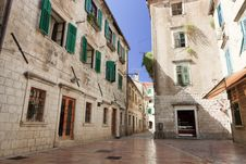 Free Empty Kotor Street Stock Photo - 18456930