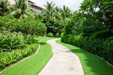 Free Garden Path Royalty Free Stock Photos - 18457118