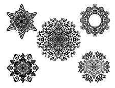 Free Set Of Vector Ornaments. Royalty Free Stock Photography - 18457557