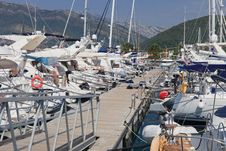 Boats At Dock Stock Image