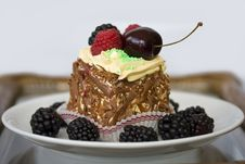 Free Delicious Dessert With Fruits Royalty Free Stock Photo - 18458045