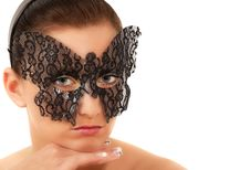 Free Teenage Girl With Face Mask Royalty Free Stock Image - 18458086