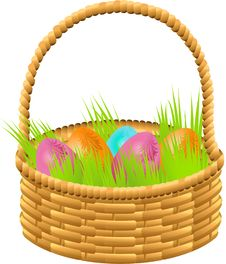 Free Easter Basket Royalty Free Stock Photo - 18458915