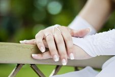 Free Palms Of The Bride Royalty Free Stock Photos - 18459008