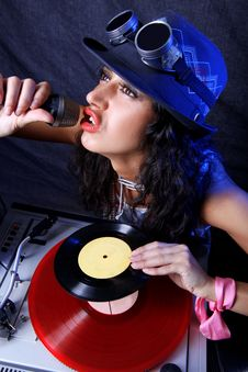 Free Cool DJ In Action Royalty Free Stock Photography - 18459337
