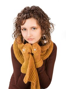 Free Beautiful Girl In Casual Winter Clothing Stock Photography - 18459362