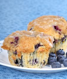 Free Blueberry Muffins Royalty Free Stock Image - 18459736