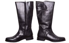 Free Black Winter Leather Boots Stock Photo - 18459790
