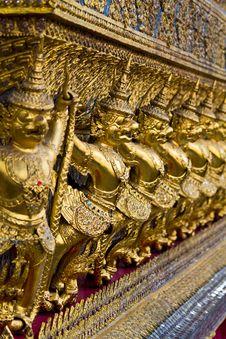 Golden Garuda In Grand Palace Thailand Stock Photo