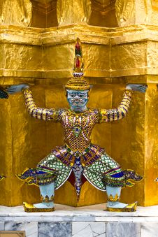 Free Guardian Of Wat Pra Kaew Grand Palace Bangkok Stock Images - 18459934
