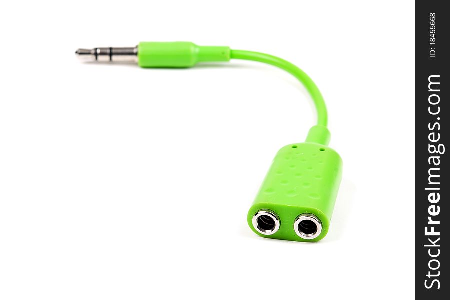 Green audio splitter