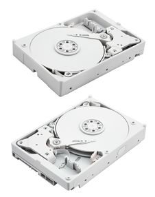 Computer Hard Disk With Clipping Path Royalty Free Stock Photo