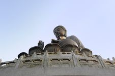 Free Tian Tan Bronze Buddha At Lantau Island, Hong Kong Royalty Free Stock Image - 18460286