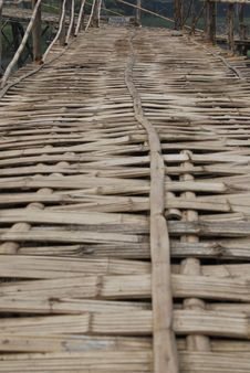 Free Bamboo Bridge Royalty Free Stock Photography - 18460457