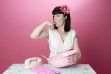 Free Baking Pinup Model Stock Photo - 18468700