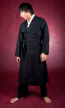 Free Korean Man In A Traditional Dress Royalty Free Stock Photography - 18469117