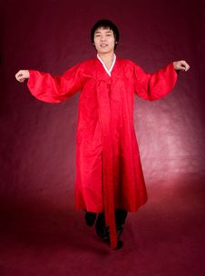 Free Korean Man In A Traditional Dress Stock Photography - 18469132