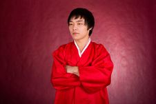 Free Korean Man In A Traditional Dress Royalty Free Stock Photos - 18469138