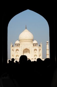 Gate To The Taj Mahal Royalty Free Stock Photo