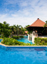 Free Tropical Garden Pool Royalty Free Stock Photos - 18471448