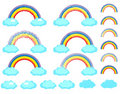 Free Rainbow Set Royalty Free Stock Photography - 18474507