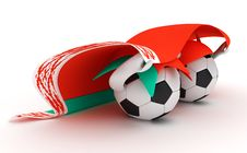 Free Two Soccer Balls Hold Belarus Flag Stock Photos - 18470983