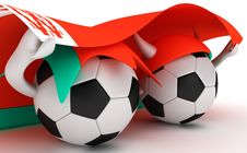 Free Two Soccer Balls Hold Belarus Flag Royalty Free Stock Images - 18470989