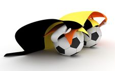 Free Two Soccer Balls Hold Belgium Flag Stock Image - 18471001