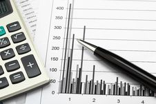 Free Financial Charts Stock Images - 18471004