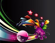Background Flower Illustration Stock Photography