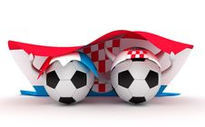 Free Two Soccer Balls Hold Croatia Flag Royalty Free Stock Photos - 18471148