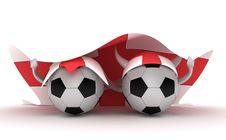 Free Two Soccer Balls Hold England Flag Stock Photo - 18471390