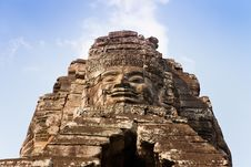Free Smiling Face At Bayon Temple, Cambodia Royalty Free Stock Photos - 18471478