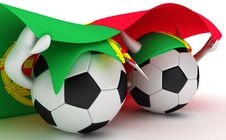 Free Two Soccer Balls Hold Portugal Flag Royalty Free Stock Image - 18471496