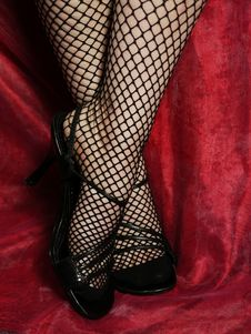 Fishnet Ankles Stock Photos