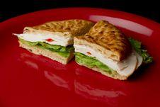 Turkey Deli Sandwich Stock Image